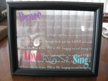Dance, Love, Sing Picture Frame-Holds 4x6 pic in DeKalb, Illinois