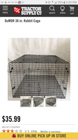 RABBIT CAGES ~ ADVANTEK brand (2), TRAY & BRACKETS in Yucca Valley, California