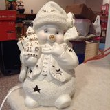 Porcelain Snowman Night Light in Naperville, Illinois