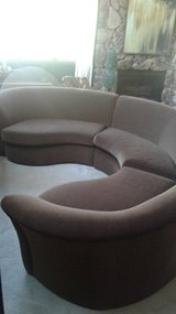 3PC Curved Sectional Couch in Bolingbrook, Illinois