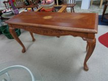 solid wood sofa table craved wood decorative in Wilmington, North Carolina