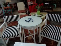 bistro table and 2 chairs nautical in Wilmington, North Carolina