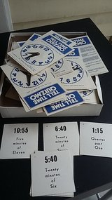 student clocks with task cards in Camp Lejeune, North Carolina