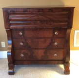 RARE ~ ANTIQUE FLAME MOHOGANY EMPIRE DRESSER / CHEST in Perry, Georgia