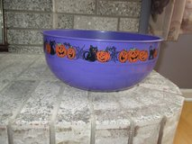 Two Large Plastic Halloween bowls - Purple and Green - like new - Cute! in Plainfield, Illinois