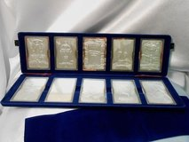 set of 10 star trek cinema art .999 pure silver ingots collection in case in Camp Lejeune, North Carolina
