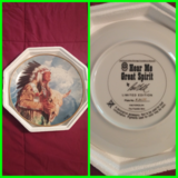 Collectible plates in Fort Polk, Louisiana