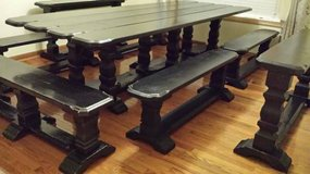 Cathedral Trestle Dining Table in Tacoma, Washington