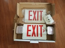 NEW REDUCED: Emergency Exit/Lighting Sign in Bolingbrook, Illinois