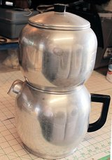 Vintage 1950's West Bend 16 Cup Aluminum Drip Coffee Maker in 29 Palms, California