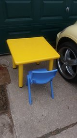 Table and chair in Fort Riley, Kansas