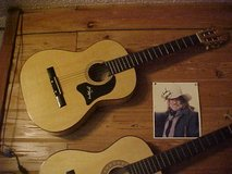 Signed Willie Nelson Guitar and Picture in Moody AFB, Georgia