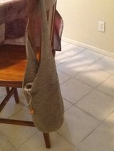 Brown rayon hobo bag in Yucca Valley, California