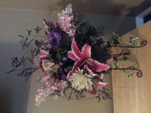 Silk Floral Arrangement in Metal Stand in Wilmington, North Carolina