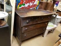 Antique solid wood 3 drawer dresser chest in Naperville, Illinois