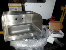 """Commercial Stainless Steel Hand Sink wth Side Splash Guards 17"""" x 14"""" in Byron, Georgia"""
