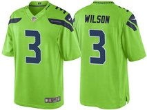 RUSSELL WILSON Stitched Nike NFL Adult Large (White, Grey & Blue) & XL (Grey, Blue & Rush Green)... in Tacoma, Washington