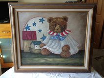 Americana Bear Textured Oil Painting in Sandwich, Illinois