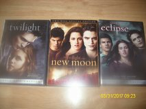 Twilight, Twilight:New Moon, Twilight:Eclipse DVD's in 29 Palms, California