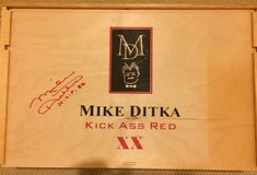 Autographed Mike Ditka wine box, authentic in Lockport, Illinois