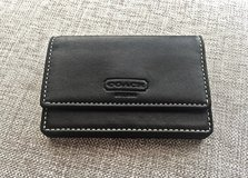 *REDUCED* NEW Authentic COACH Black Leather Credit/ Business/ ID Card Holder/ Mini Wallet in Okinawa, Japan