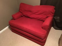 Red Upholstered Oversized Chair in Beaufort, South Carolina