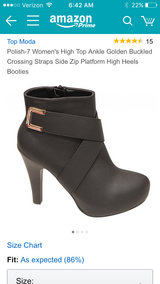 Black leather booties / ankle boots in Oswego, Illinois