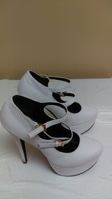 Womens White Mary Jane High Heels size 8 in Beaufort, South Carolina