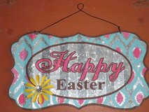 metal easter sign in St. Charles, Illinois
