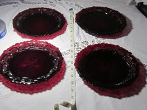 Avon dishes Cranberry red in Fort Eustis, Virginia