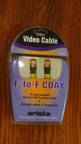 **NIB - 24 kt-gold plated Video Cable.... F - F Coax in Okinawa, Japan