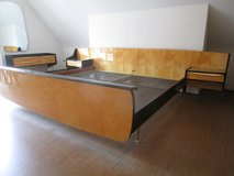 Excellente Mid Century Kingsize Bedroom Set with Bed, Vanity and Mirror and Closet with Airplane... in Ramstein, Germany