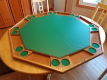Wood poker table topper in Plainfield, Illinois