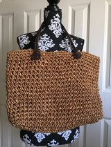 BIG Woven Straw Beach Bag Tote Purse in Lockport, Illinois