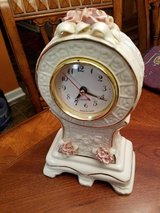 English Rose Porcelain Clock in Clarksville, Tennessee