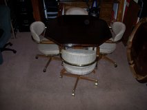 Three (3) DINING TABLE SET (OCTAGON) with 4 chairs on wheels in Hampton, Virginia