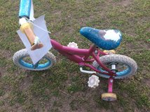 12 inch Princess bike seat is torn in Warner Robins, Georgia
