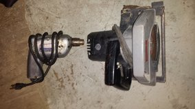 Craftsman 7 inch circular saw and Manning-Bowman 3/8 cap drill in Joliet, Illinois