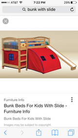 Loft bed with slide in Tinley Park, Illinois