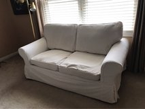 Down-filled Loveseat with 2 Sets of Slip Covers in Naperville, Illinois