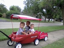 Radio Flyer Triple Play Wagon, Canopy , Trailer in Naperville, Illinois