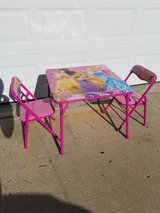 Barbie / 3 Piece Folding Child's Table & Chair Set in Fort Campbell, Kentucky