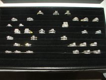 Wedding Ring Sets Sterling Silver with Rhodium Plating Assorted Selection in Lockport, Illinois