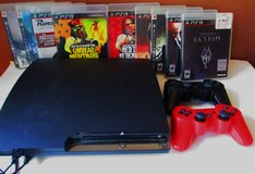 PS 3 Console  8 Games  2  Controller Play Station in Fort Campbell, Kentucky