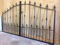 Brand new wrought iron curved gates (in stock) in Lakenheath, UK