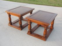 """VINTAGE """"PINE""""END TABLE SET OF 2 FROM THE 1970'S EXCELLENT CONDITION in Camp Lejeune, North Carolina"""