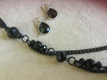 "Black 32"" necklace +earrings set-NEW CREDIT CARDS ACCEPTED!!! in Bolingbrook, Illinois"