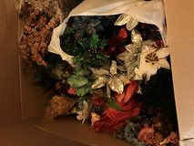 2 Large misc boxes of silk flowers & silk plants in Perry, Georgia