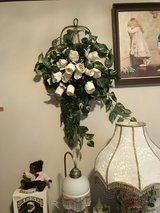 White silk roses Swag in Perry, Georgia