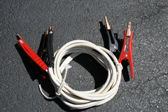 16' 5-gauge Battery Jumper Cables (white) in Naperville, Illinois